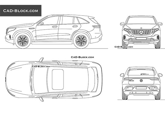 Mercedes-Benz EQC buy AutoCAD Blocks