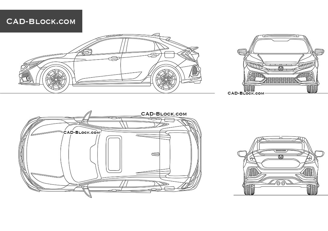 Honda Civic - CAD Blocks, AutoCAD file