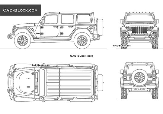 Jeep Wrangler - free CAD file