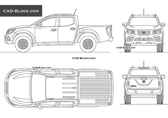 Nissan Navara Double Cab - download free CAD Block