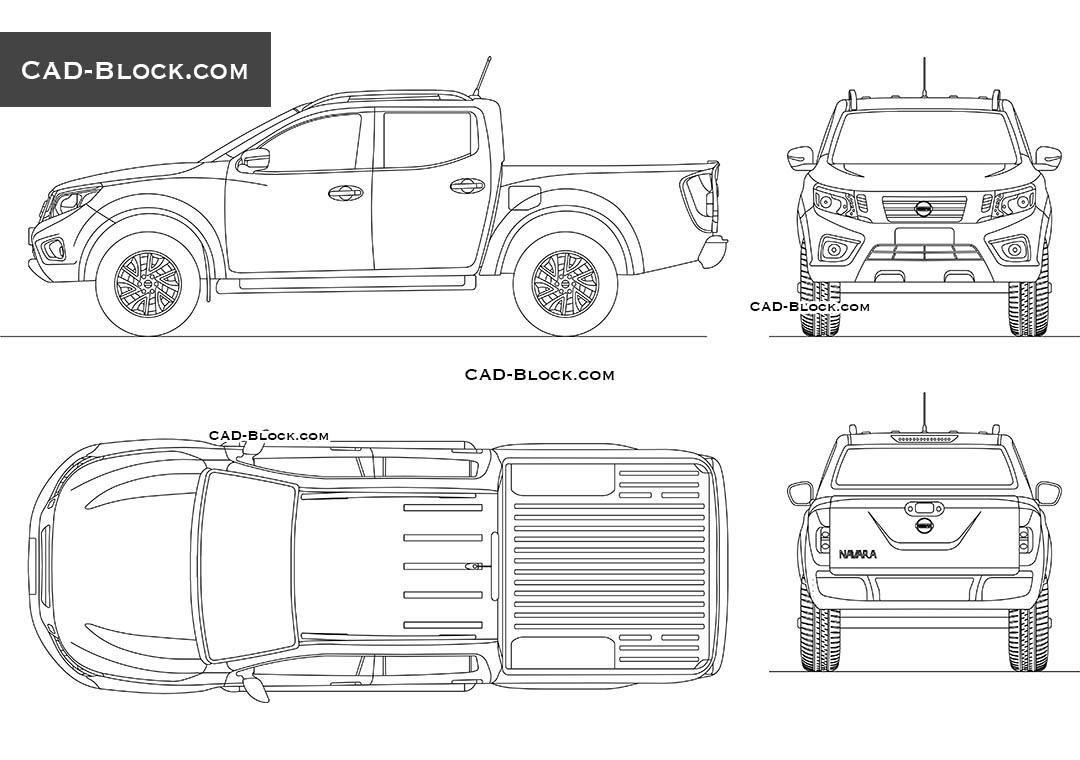 Nissan Navara Double Cab Cad Blocks