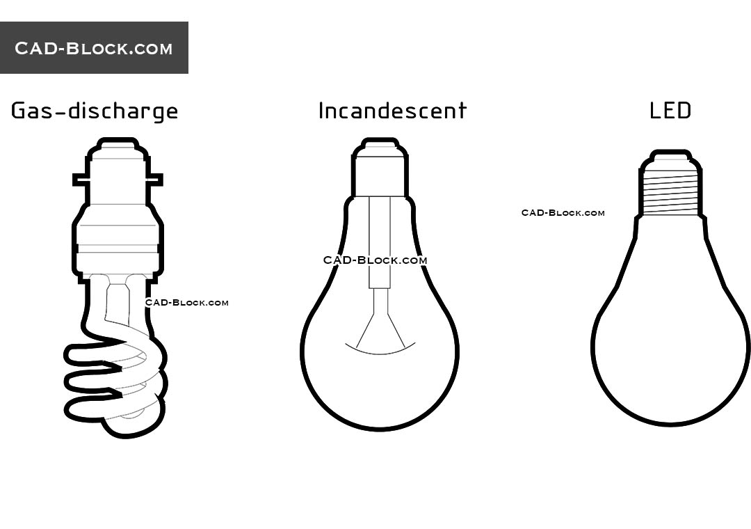 Light Bulb - CAD Blocks, AutoCAD file