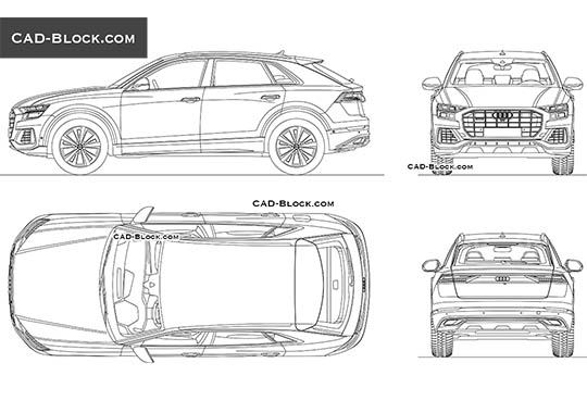 Audi Q8 buy AutoCAD Blocks