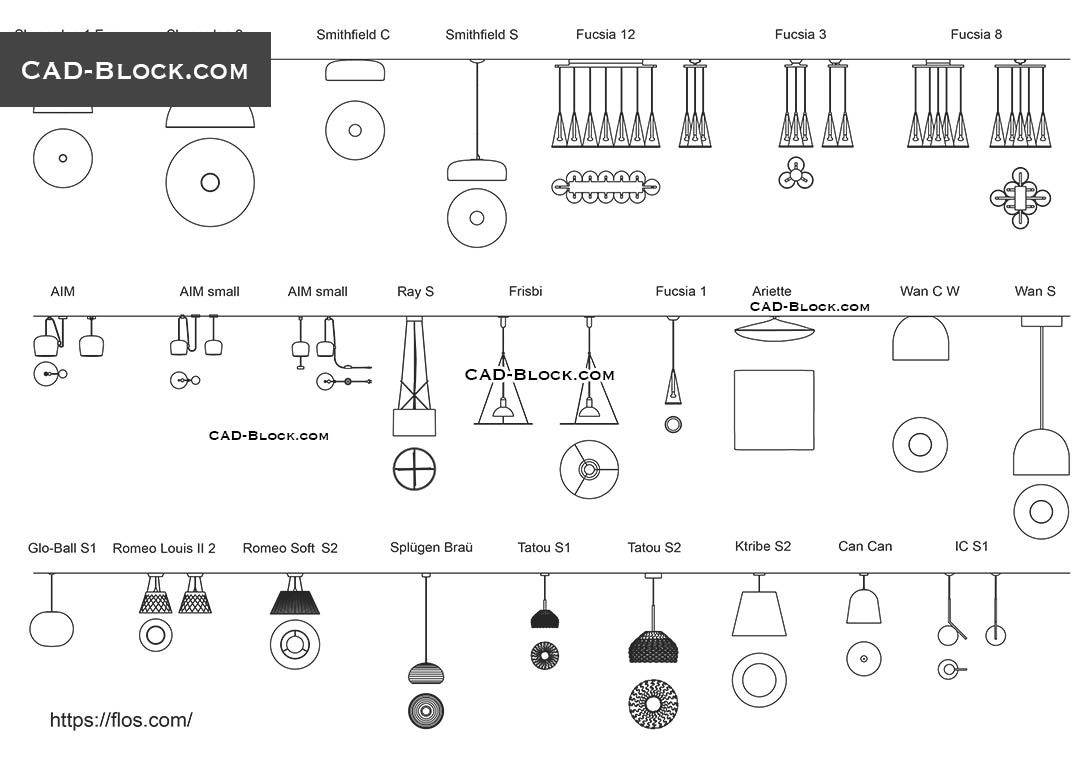 Ceiling Light Fixture - CAD Blocks, AutoCAD file