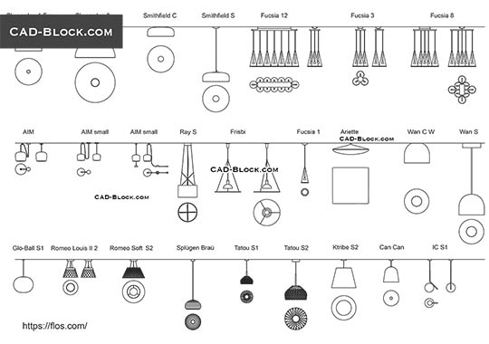 Ceiling Light Fixture - free CAD file