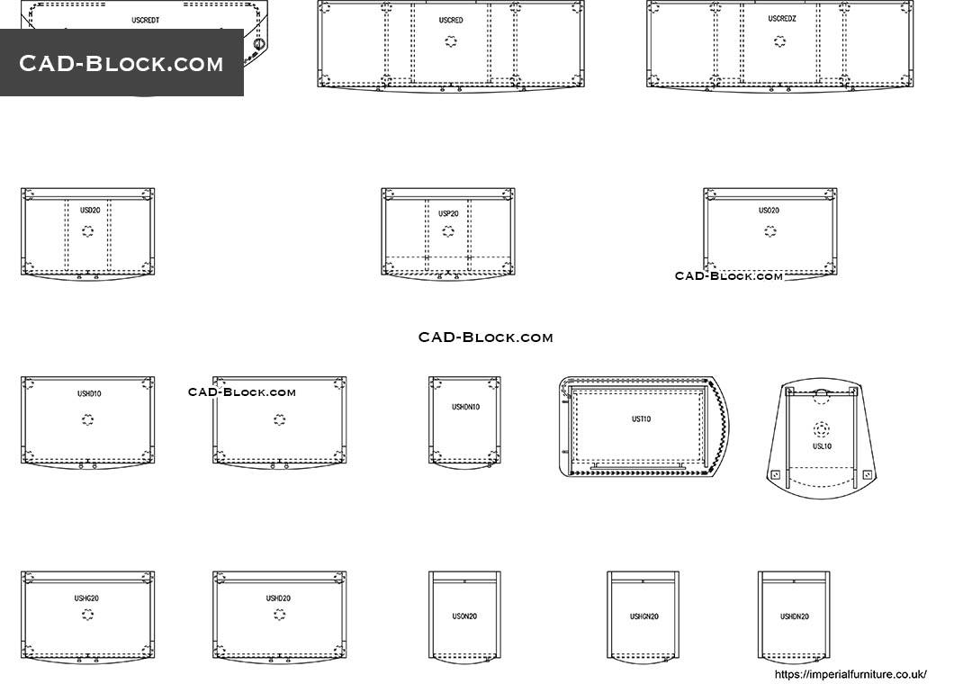 Storage CAD Blocks, download free AutoCAD models