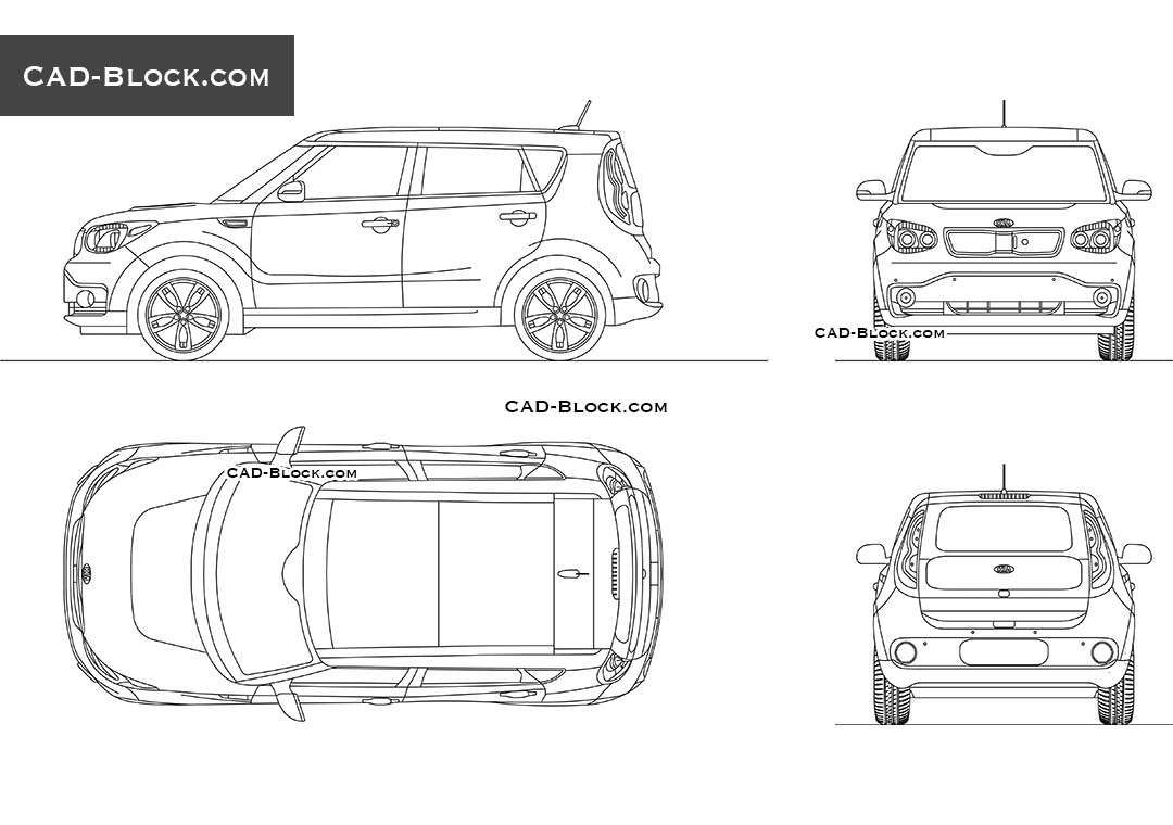 Kia Soul EV - CAD Blocks, AutoCAD file