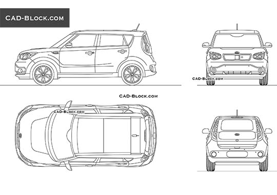 Kia Soul EV buy AutoCAD Blocks