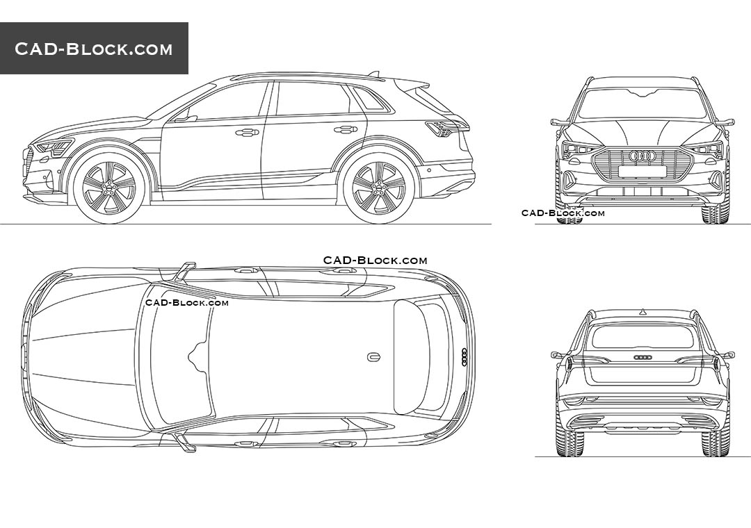 Audi E-tron - CAD Blocks, AutoCAD file