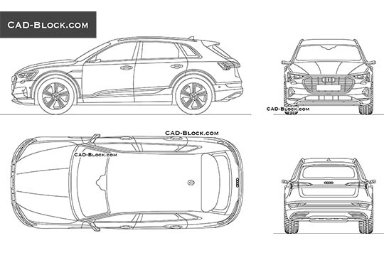 Audi E-tron buy AutoCAD Blocks