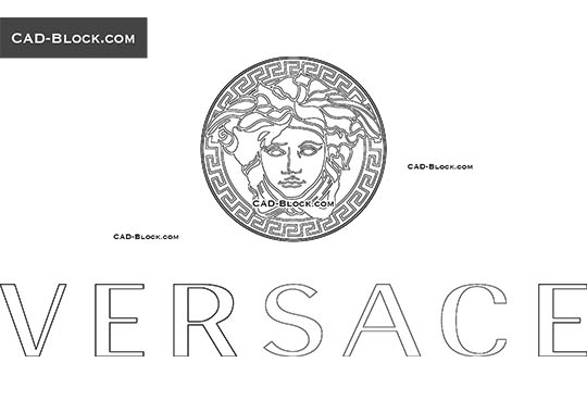 Versace Logo - free CAD file