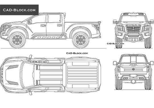 Nissan Titan Warrior (Concept) - download free CAD Block