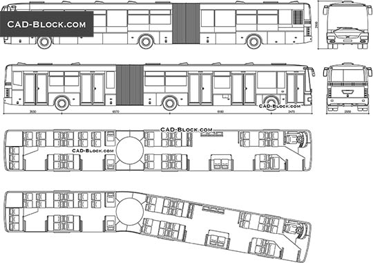 SOR NB 18 City Bus - download free CAD Block
