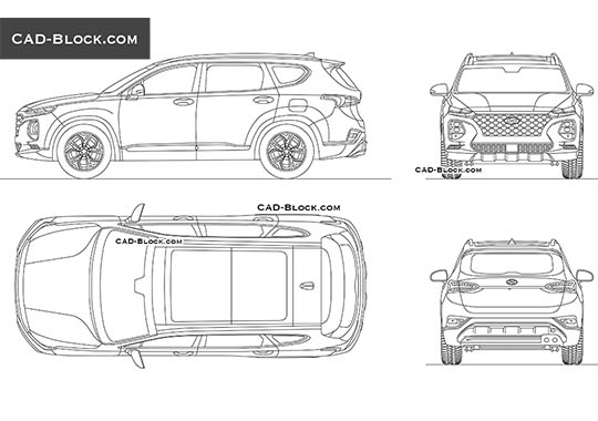 Hyundai Santa Fe buy AutoCAD Blocks