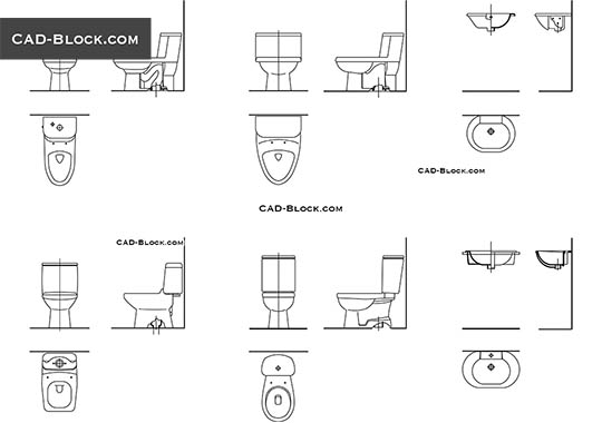 Toilet Section - download free CAD Block