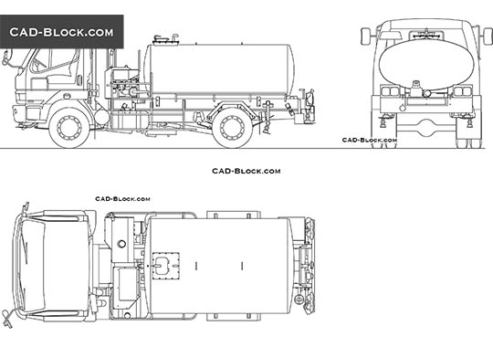 Tanker Truck - download free CAD Block