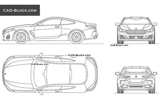 BMW M850i buy AutoCAD Blocks