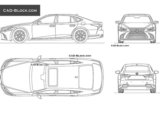Lexus LS 500h buy AutoCAD Blocks