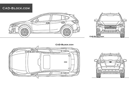 Subaru XV buy AutoCAD Blocks