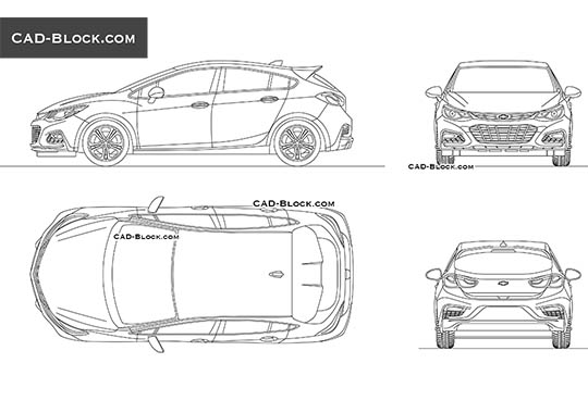 Chevrolet Cruze - download free CAD Block