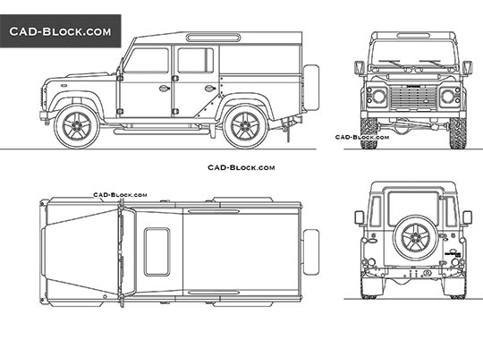 Land Rover Defender buy AutoCAD Blocks