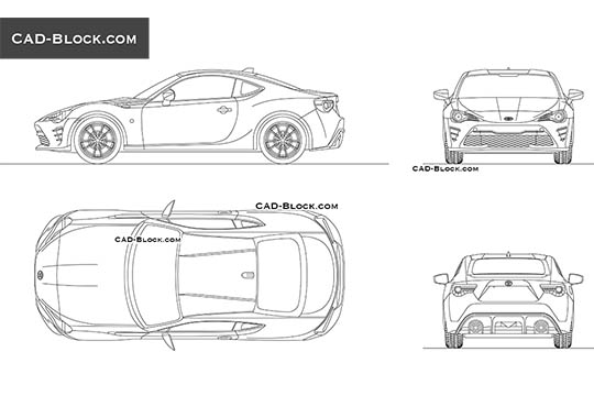 Toyota GT86 - free CAD file
