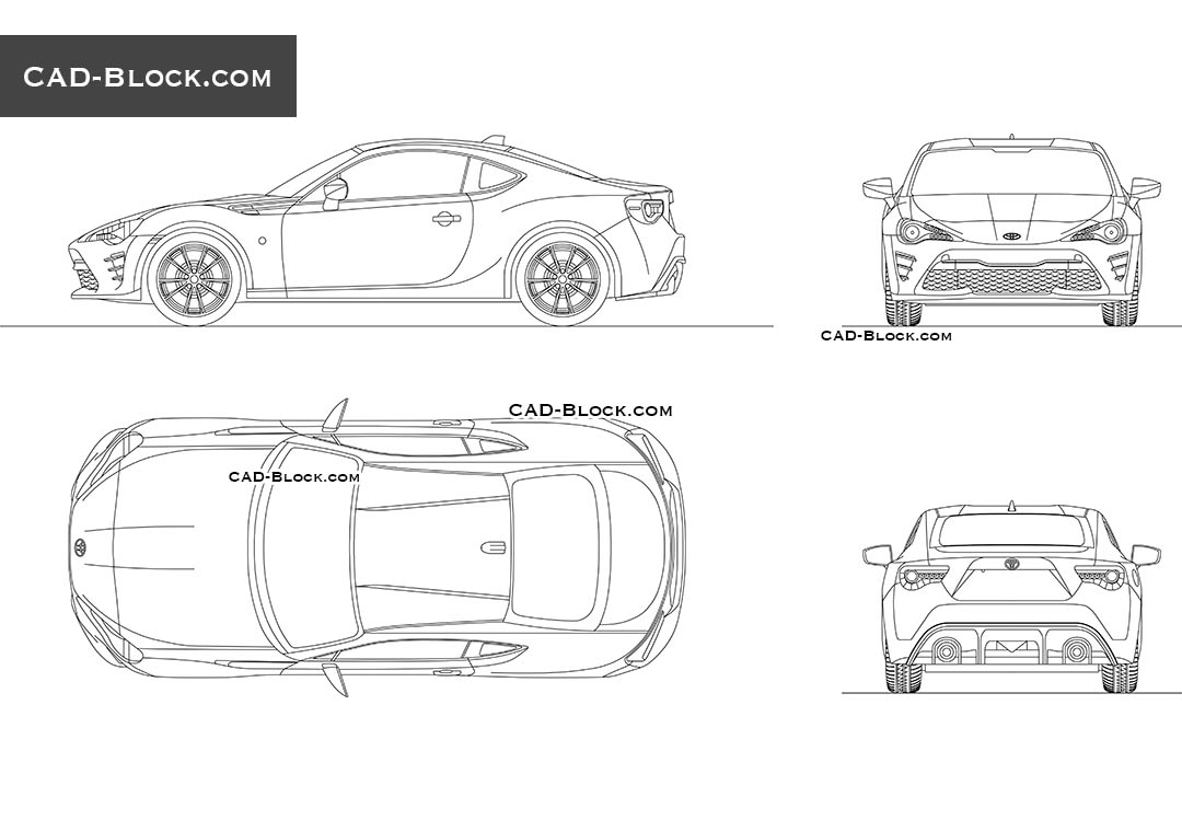Toyota GT86 - CAD Blocks, AutoCAD file