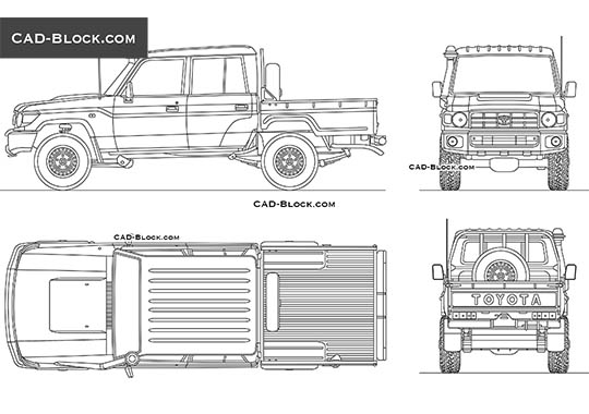 Toyota Land Cruiser Double Cab buy AutoCAD Blocks