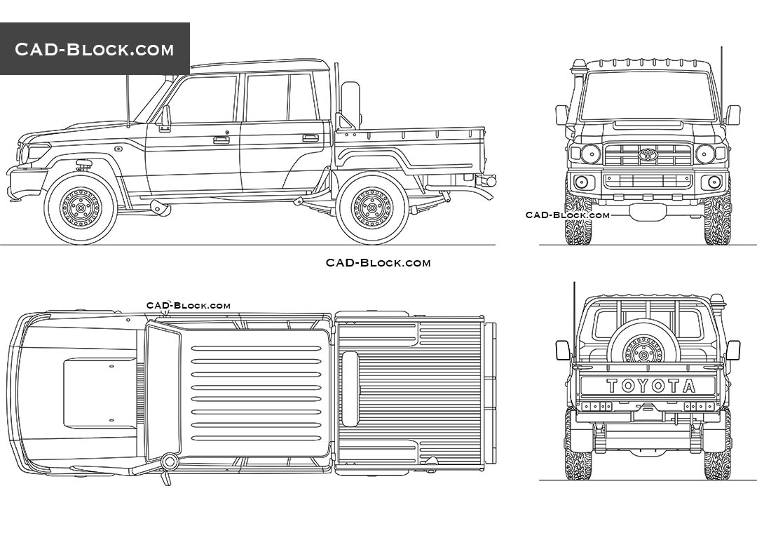 Toyota Land Cruiser Double Cab - CAD Blocks, AutoCAD file