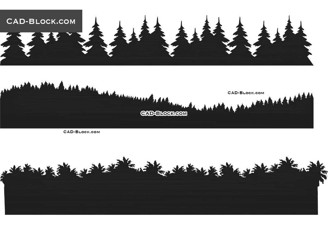 Forest Background - CAD Blocks, AutoCAD file
