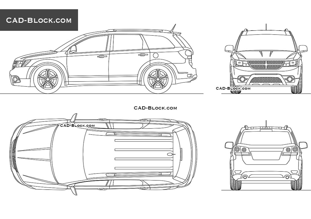 Dodge Journey - CAD Blocks, AutoCAD file