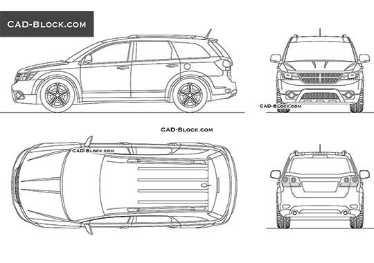 Dodge Journey buy AutoCAD Blocks