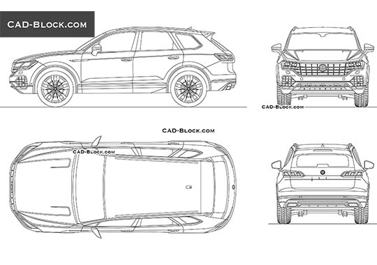 Volkswagen Touareg buy AutoCAD Blocks