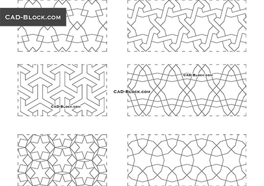 Arabesque Seamless Pattern - download free CAD Block