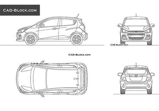 Chevrolet Spark - download free CAD Block