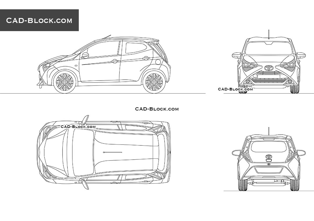 Toyota Aygo - CAD Blocks, AutoCAD file
