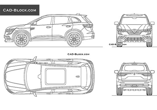 Renault Koleos - download free CAD Block