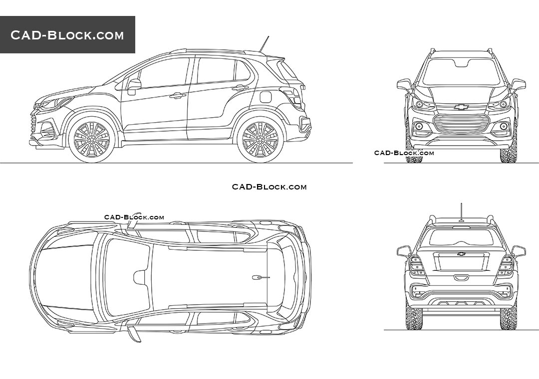 Chevrolet Trax - CAD Blocks, AutoCAD file