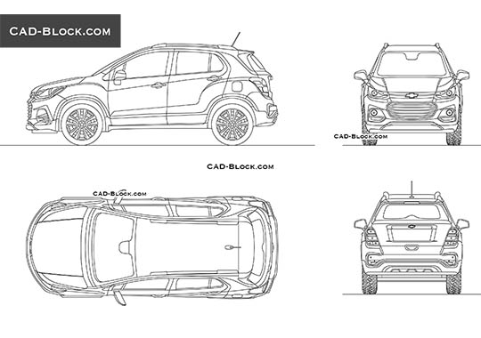Chevrolet Trax buy AutoCAD Blocks