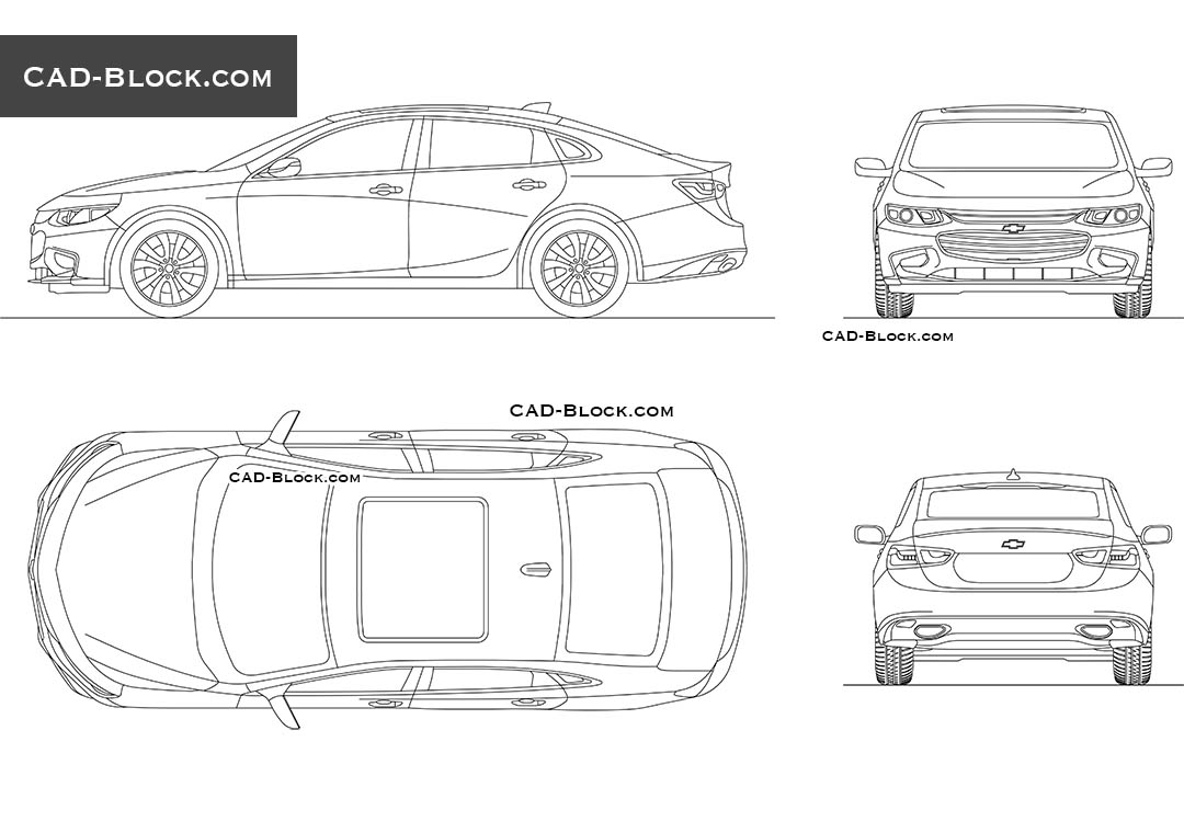 Chevrolet Malibu - CAD Blocks, AutoCAD file