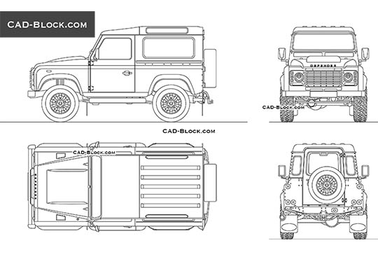 Land Rover Defender Works V8 buy AutoCAD Blocks