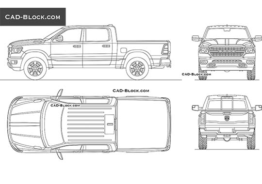 Dodge Ram 1500 Big Horn buy AutoCAD Blocks