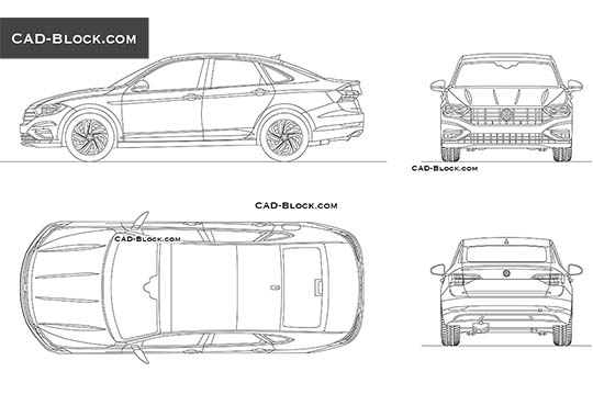 Volkswagen Jetta buy AutoCAD Blocks