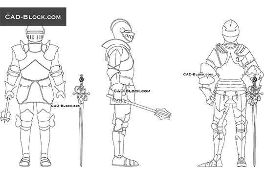 Knight - download free CAD Block
