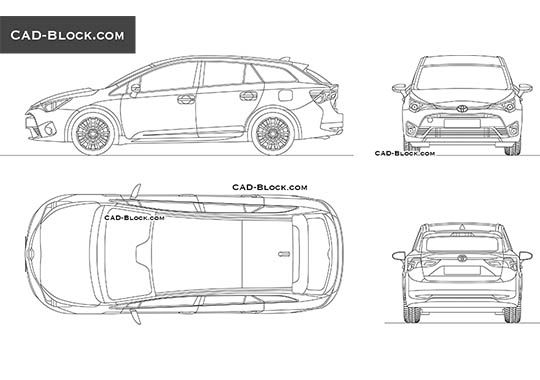 Toyota Avensis Wagon buy AutoCAD Blocks