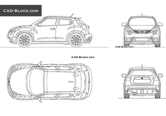 Nissan Juke buy AutoCAD Blocks