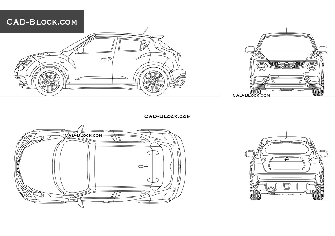 Nissan Juke - CAD Blocks, AutoCAD file