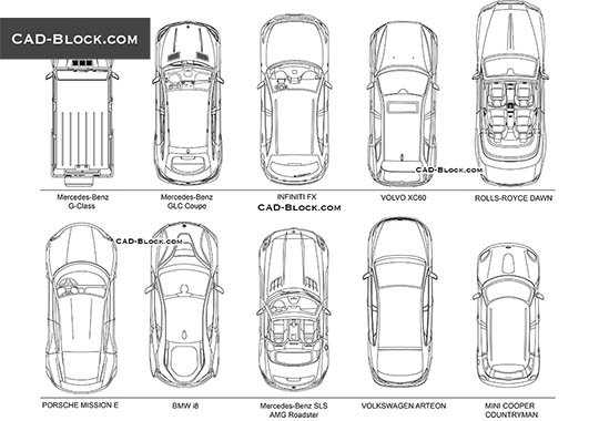 Cars Top View buy AutoCAD Blocks