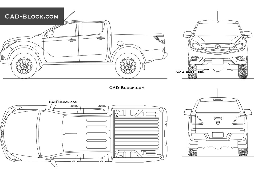 Mazda BT-50 - CAD Blocks, AutoCAD file