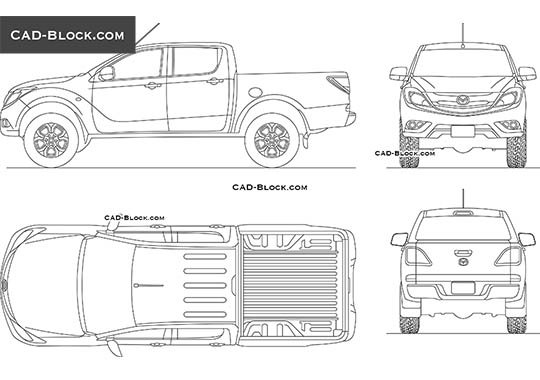 Mazda BT-50 buy AutoCAD Blocks